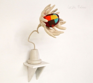 """Manic Flower, by Cecile Noldus, shown at """"Not at Home"""", Hamburg"""